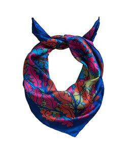 Midi Scarf, Small Silk Scarf, Satin Georgette, Luxury Foulard, Made in UK
