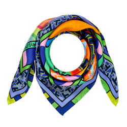Designer Scarf, Luxury Scarves UK, Silk Neckerchief, Wearable Art, Trans Art, Pop-Art, Made in UK