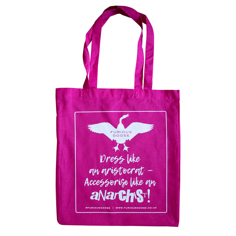 Pink cotton tote bag, luxury accessories brand, pocket squares uk