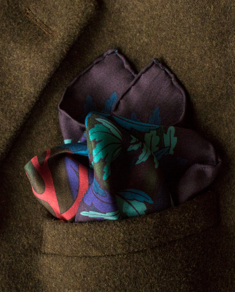 Designer Pocket Square, Pocket Squares UK, Pochette, Handkerchief, Silk Square, Luxury Gift, Made in UK