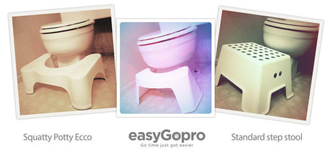 Comparison of Squatty Potty and EasyGopro toilet stool