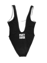 FASHION AF PARTY SWIMSUIT - BLACK (High Cut Sides / Low Back)