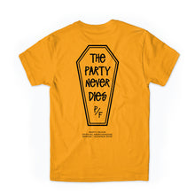 The Party Never Dies Tee (GOLD)