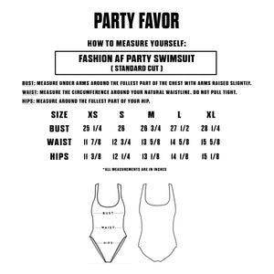 FASHION AF PARTY SWIMSUIT - RED (Standard Cut)