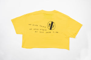 """I WONDER IF"" CROP TOP (Yellow)"