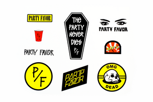 Party Favor Sticker Sheet