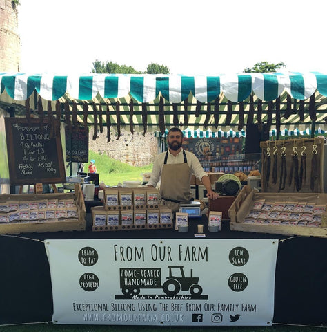 Monmouthshire Food Festival biltong Stall