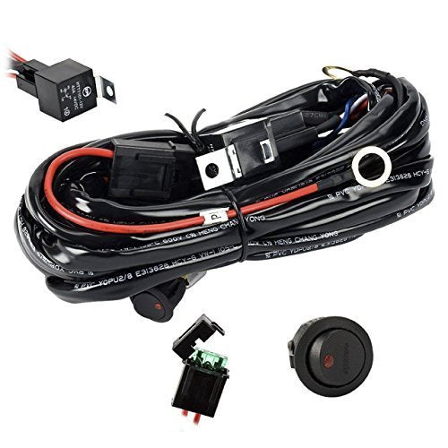 12ft (300 Watt) Wiring Kit w/Rocker Switch