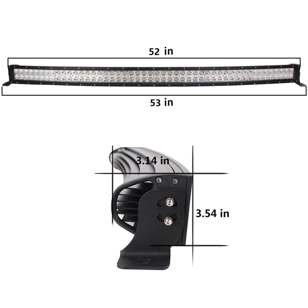 "52"" Curved Light Bar (300 watt)"