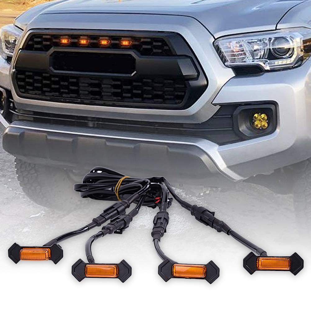 (16-19) Toyota Tacoma Amber Grille Lights (4Pack)