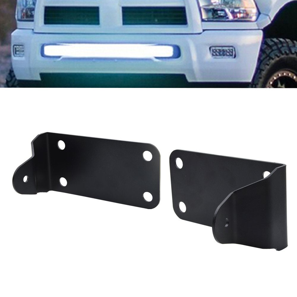 "(2010-2018 Dodge Ram 2500) 40"" Curved Bumper Mount Brackets"