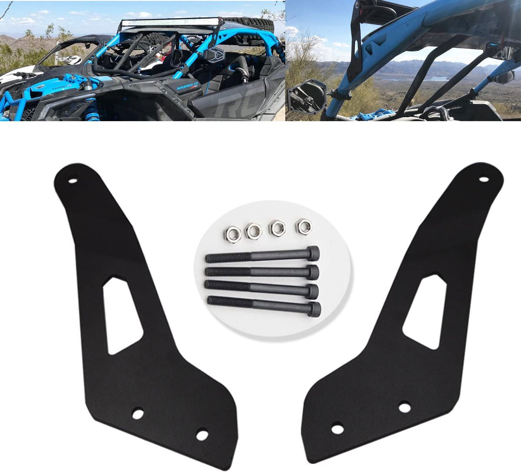 "50"" Curved/Straight LED Light Bar Upper Roof Mount Bracket Fit Can-am Maverick X3 (Brackets Only)"