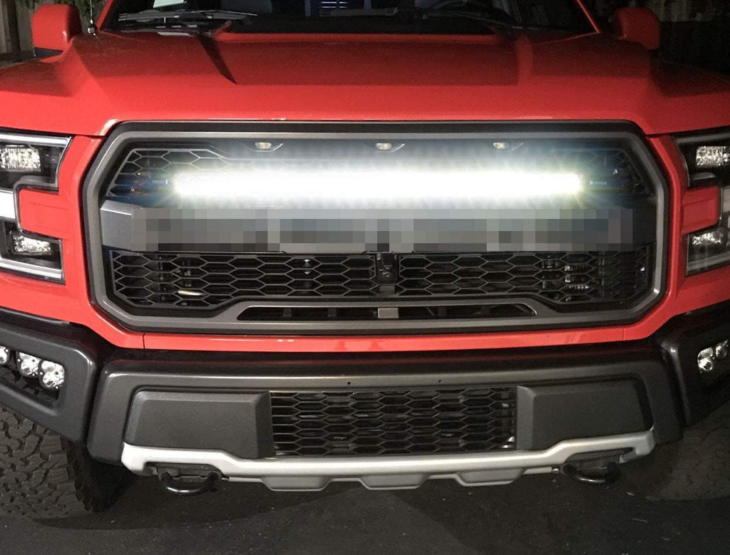 2017-2020 Ford Raptor Upper Grille Kit Mount With 30-Inch LED Light Bar (Complete Kit)
