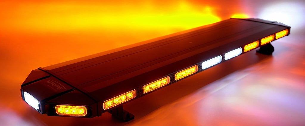"48"" Black Emergency Strobe Light (Amber/White)"