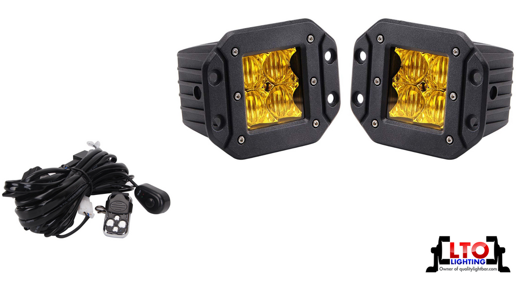 High Output Flush Mount (Amber) Flood Lights