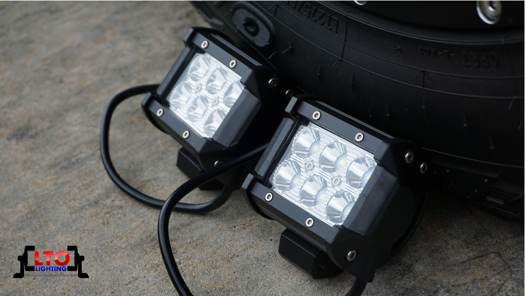 "(2) 4"" LED Pods (18 watt)"