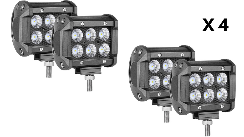 "(4) 4"" LED Pods (Blacked Out)"