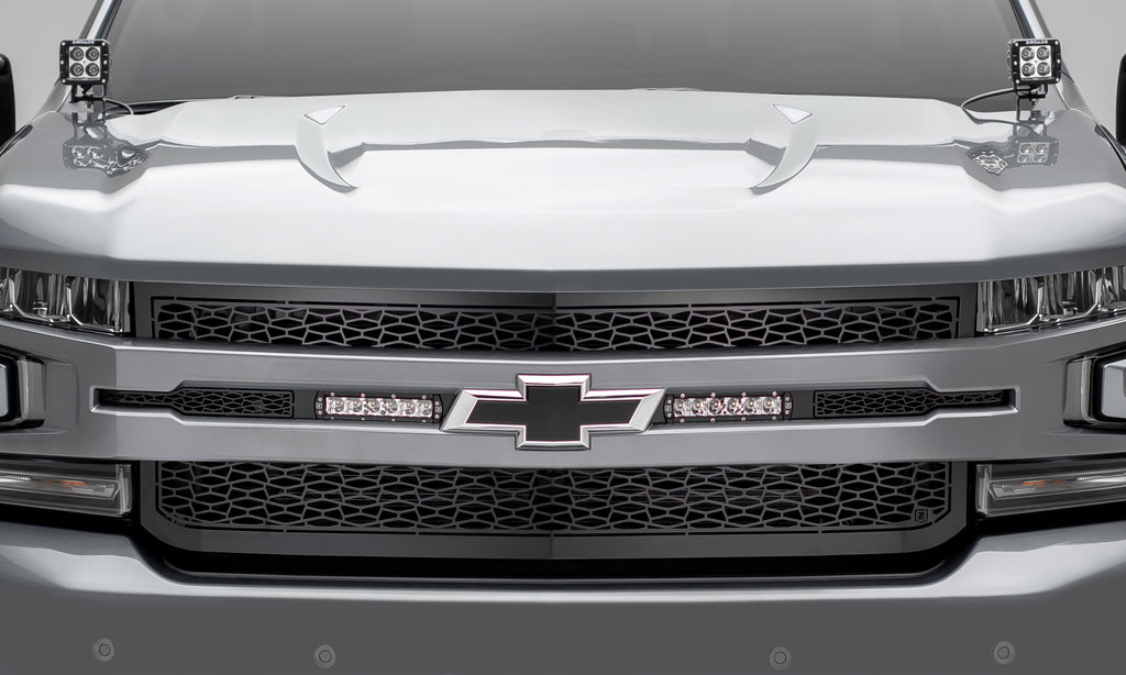 "ZROADZ SERIES GRILLE REPLACEMENT - Z311261 - 1-PIECE - TWO 6"" LED LIGHTS FOR 2019 CHEVY SILVERADO 1500"