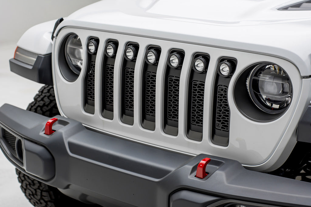 ZROADZ SERIES GRILLE INSERT - Z314931 W/ (7) LED LIGHT PODS FOR 2018 JEEP WRANGLER JL