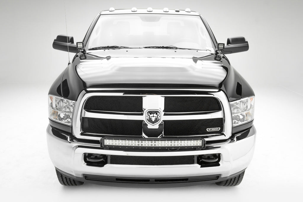 FRONT BUMPER TOP LED LIGHT BAR MOUNT KIT 2010-2019 DODGE RAM 2500/3500 W/30 INCH LED LIGHT BAR INCLUDES UNIVERSAL WIRING HARNESS