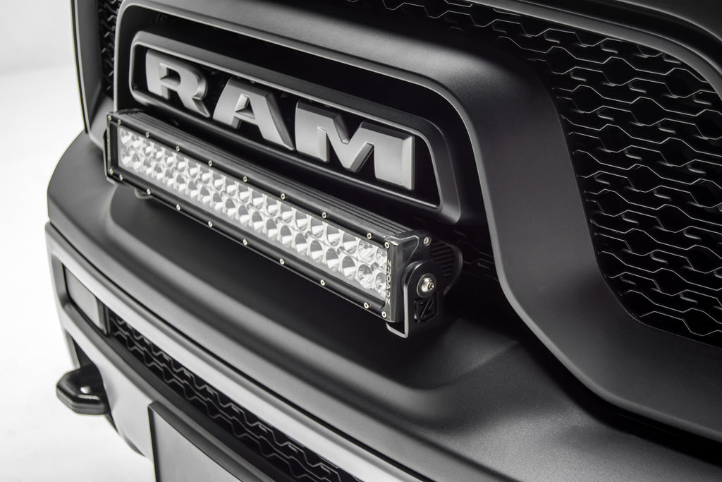 FRONT BUMPER TOP LED MOUNTING KIT 2015-2018 RAM REBEL W/ 20 INCH LIGHT BAR INCLUDES WIRING HARNESS