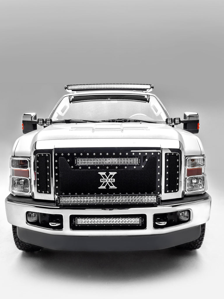 FRONT BUMPER TOP LED LIGHT BAR MOUNT KIT 2008-2010 FORD F-250/F-350 SUPERDUTY W/30 INCH LED LIGHT BAR INCLUDES UNIVERSAL WIRING HARNESS ZROADZ