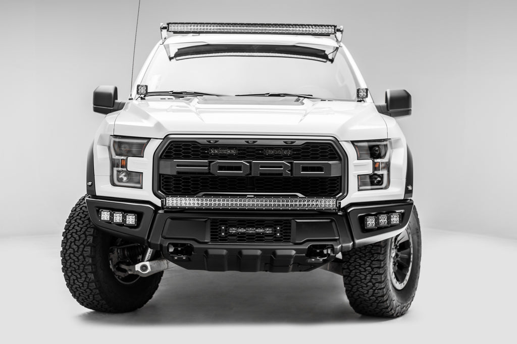 ZROADZ Z325652-KIT FRONT BUMPER FOG LAMP MOUNTING KIT W/ SIX 3 INCH POD LED LIGHTS 2017-2018 FORD F-150 RAPTOR INCLUDES UNIVERSAL WIRING HARNESS