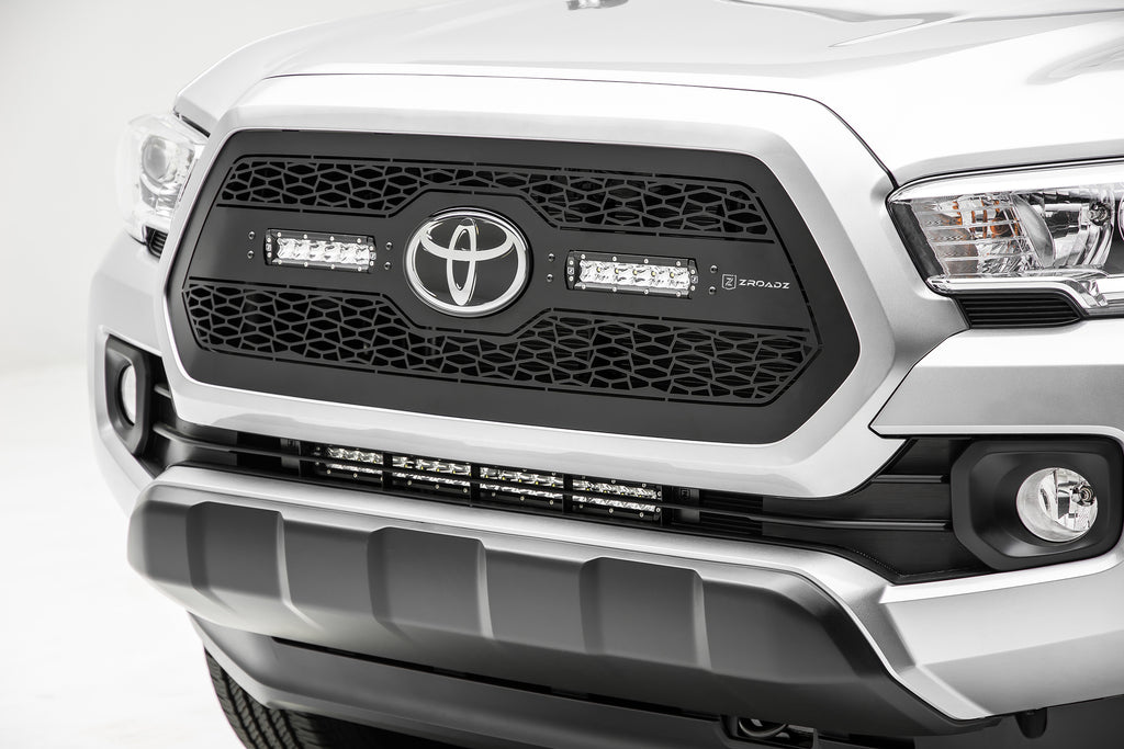 OEM LOWER GRILLE MOUNTING KIT BLACK 2018-2018 TOYOTA TACOMA INCLUDES ONE 20 INCH SLIM SINGLE ROW LED LIGHT BARS & WIRE HARNESS