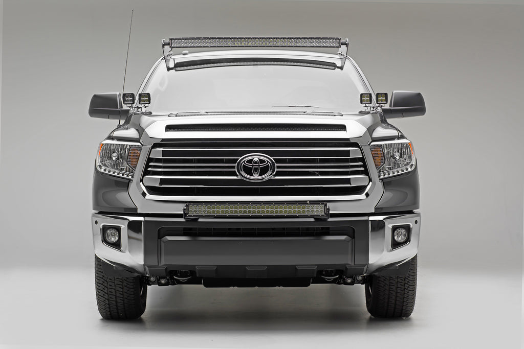 FRONT BUMPER TOP LED LIGHT BAR MOUNT KIT 14-PRES TUNDRA W/30 INCH LED LIGHT BAR INCLUDES UNIVERSAL WIRING HARNESS ZROADZ