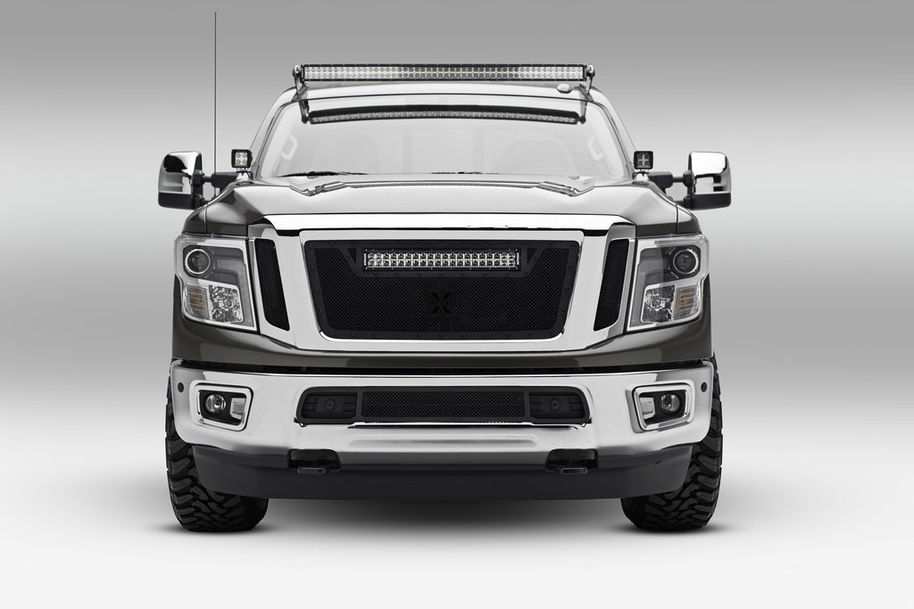 FRONT ROOF LED LIGHT BAR MOUNT KIT 2016-2019 NISSAN TITAN XD W/50 INCH CURVED LED LIGHT BAR INCLUDES UNIVERSAL WIRING HARNESS ZROADZ
