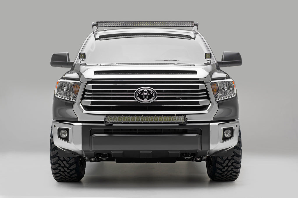 HOOD HINGES LED LIGHT BAR MOUNT KIT 2014-2019 TUNDRA BY A PILLAR W/TWO 3 INCH CUBE LED WORK LIGHTS ZROADZ
