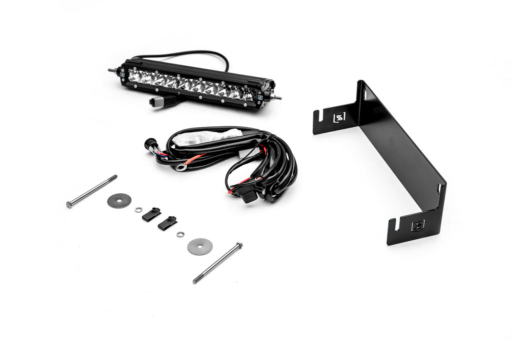 REAR BUMPER LED MOUNTING KIT 2018 WRANGLER JL W/ 10 INCH SINGLE ROW SLIM LINE LED LIGHT ZROADZ (Z384931-KIT)
