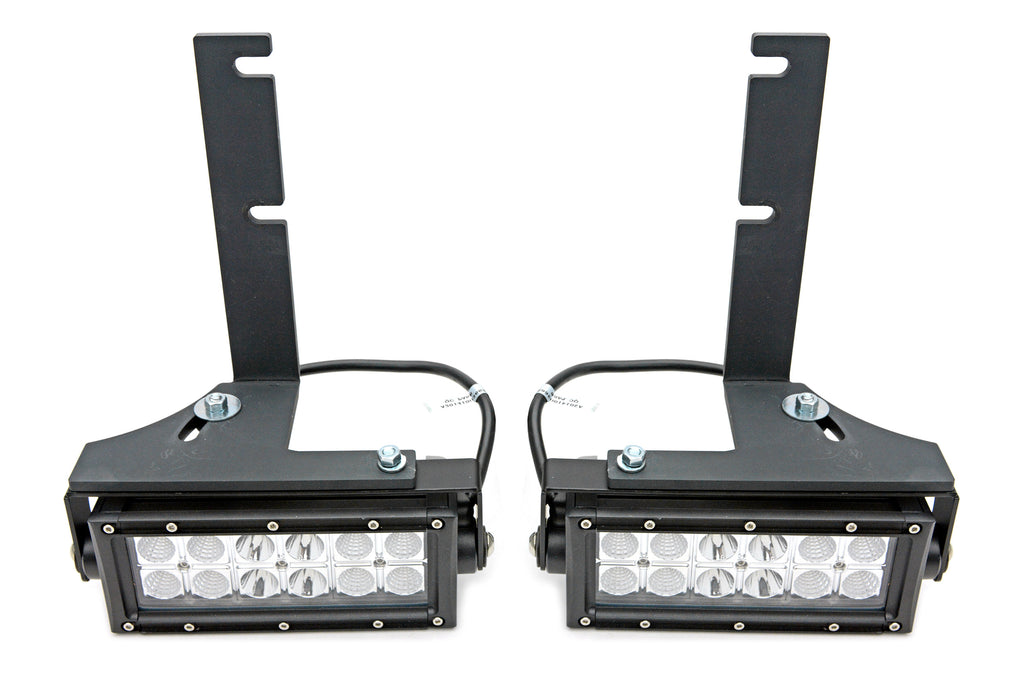 REAR BUMPER FRAME LED LIGHT BAR MOUNT KIT 2016-2019 NISSAN TITAN XD SWIVEL ADJUSTMENTS W/TWO 6 INCH LEDS ZROADZ