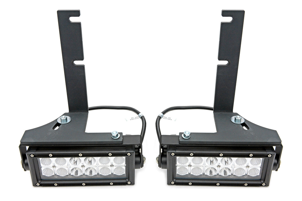 REAR BUMPER FRAME LED LIGHT BAR MOUNT KIT 2016-2019 TACOMA SWIVEL ADJUSTMENTS W/TWO 6 INCH LEDS ZROADZ