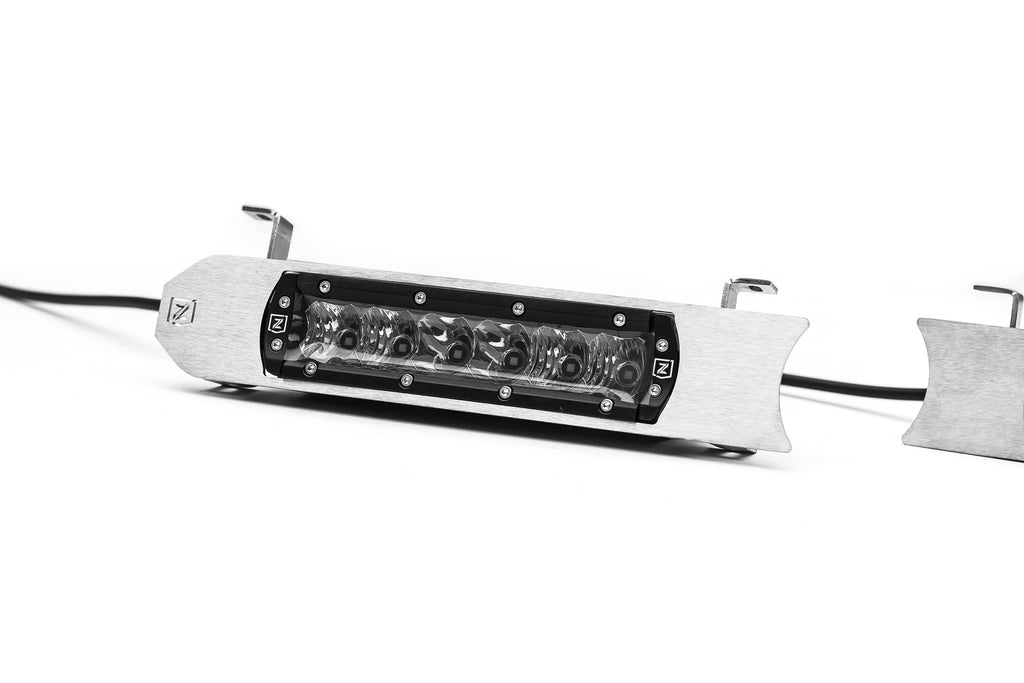 ZROADZ Z415573-KIT OEM GRILLE MOUNTING KIT BRUSHED 2017-2019 FORD SUPERDUTY XLT INCLUDES TWO 6 INCH SLIM SINGLE ROW LED LIGHT BARS & WIRE HARNESS