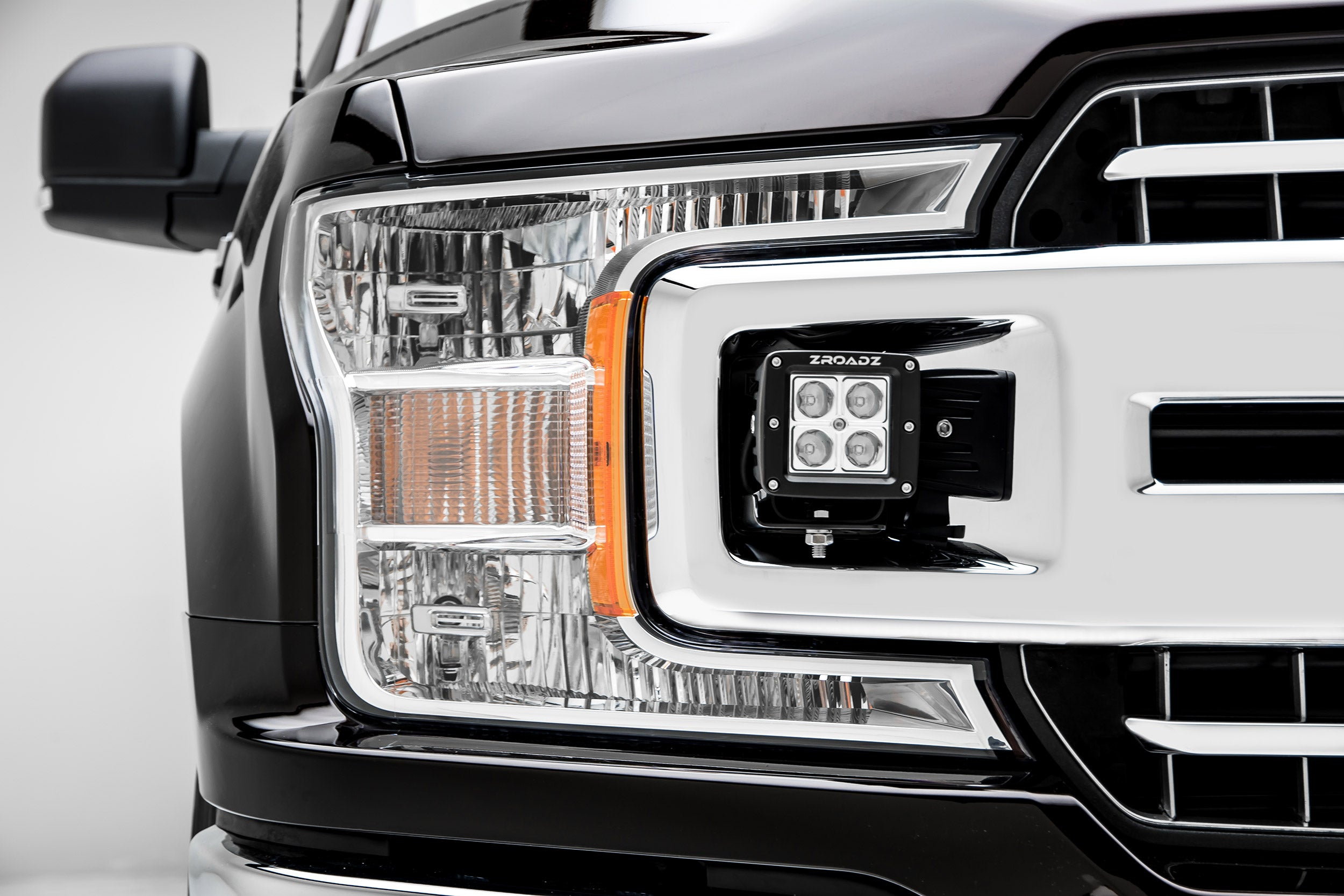 Oem Grille Mounting Kit Black 2018 2019 Ford F 150 Xlt Includes Two 3 Quality Light Bars