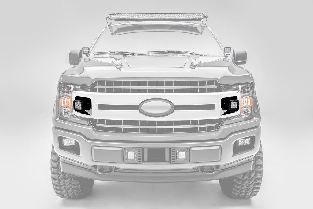 OEM GRILLE MOUNTING KIT BLACK 2018-2019 FORD F-150 XLT INCLUDES TWO 3 INCH LED LIGHT PODS