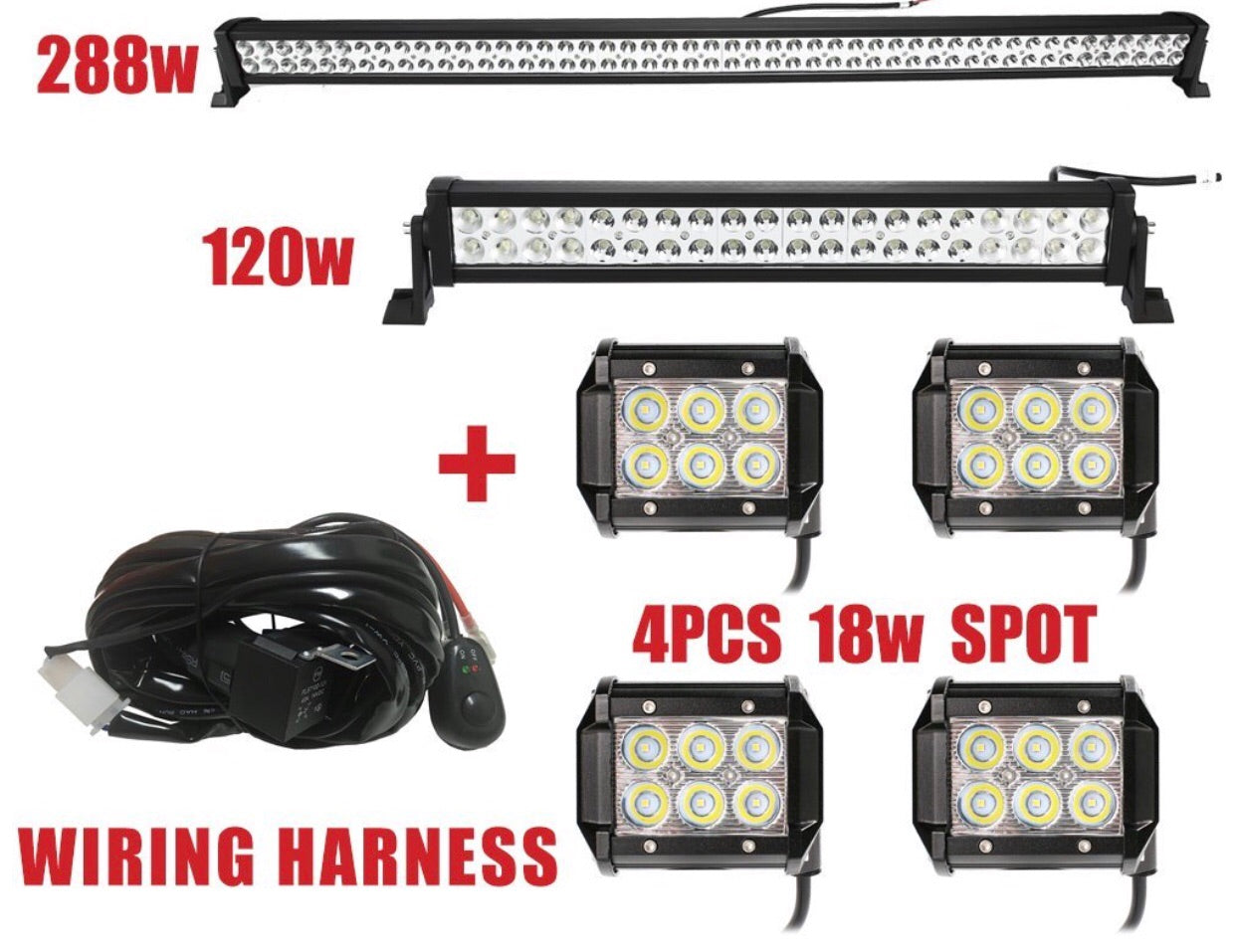 Led Light Bars Quality Wire Harness Bundle Survival