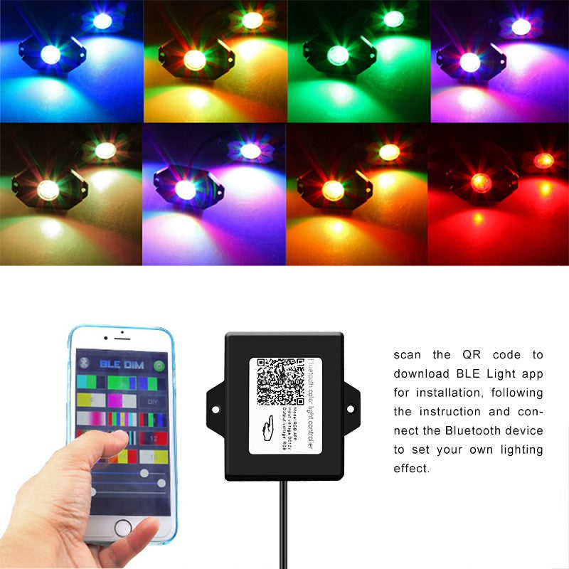(8 Pack) Bluetooth Color Change LED Rock Lights