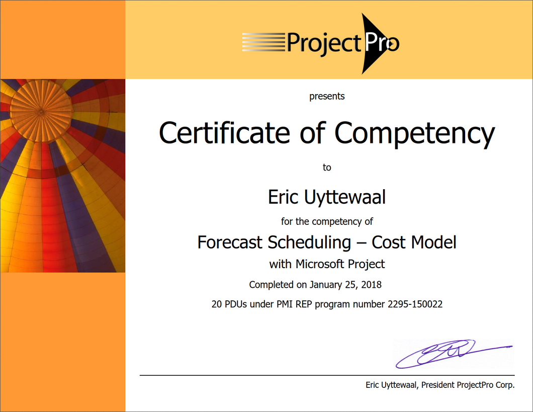 Forecast Scheduling - Cost Model