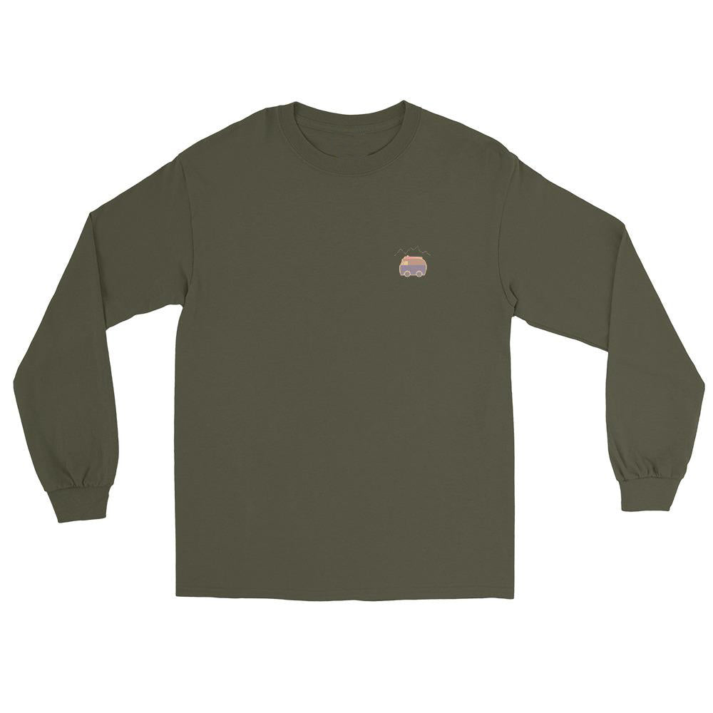 Stoked Goods Unisex Olive Long Sleeve Shirt
