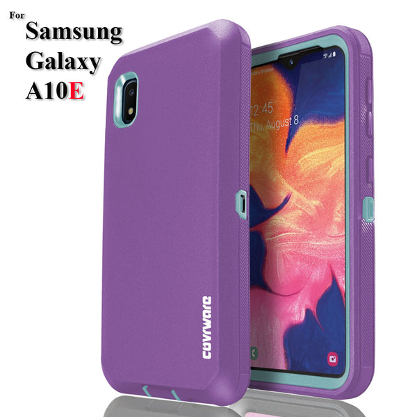 Samsung Galaxy A10E Case, COVRWARE [Tri Series] with Built-in [Screen Protector] Heavy Duty Full-Body Triple Layers Protective Armor Holster Cover [Swivel Belt-Clip][Kickstand]