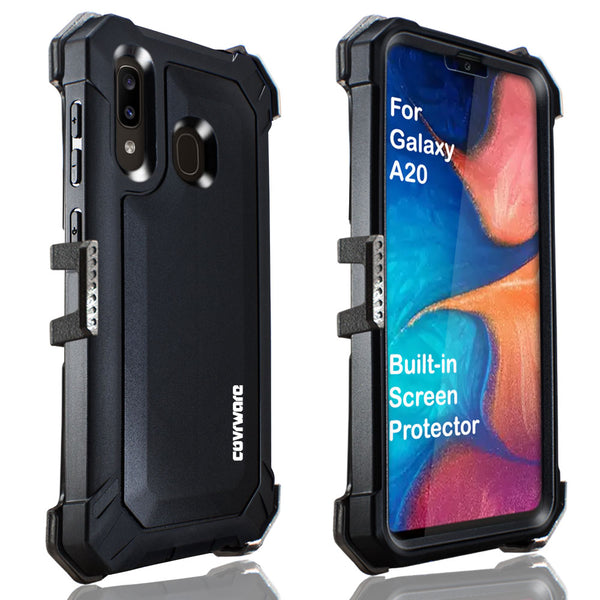 Samsung Galaxy A20 / A30 / A50 Cover, COVRWARE [Aegis Pro Series] Case [Built-in Screen Protector] Heavy Duty Full-Body Rugged Holster Armor Case [Belt Clip][Kickstand]