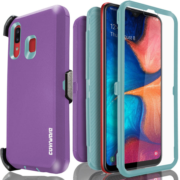 Samsung Galaxy A20 / A30 / A30S / A50 Case, COVRWARE [Tri Series] with Built-in [Screen Protector] Heavy Duty Full-Body Triple Layers Protective Armor Holster Case