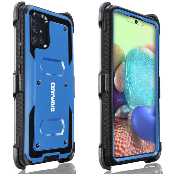 Samsung Galaxy A71 5G Case, COVRWARE [Aegis Series] with Built-in [Screen Protector] Heavy Duty Full-Body Protective Armor Holster Cove