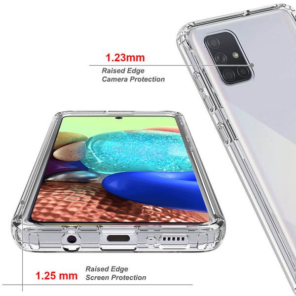 COVRWARE Compatible with Samsung Galaxy A71 5G Case, Dual Layer Soft TPU Phone Cover with Built-in Screen Protector, Wireless Charging Compatible