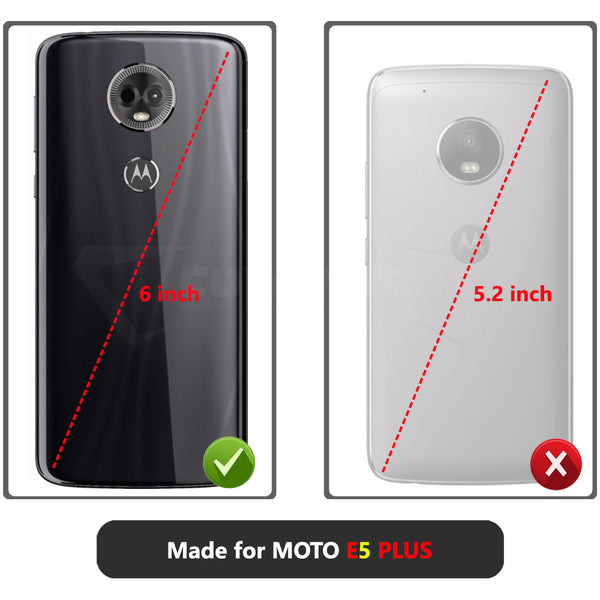 Moto E5 Plus / E5 Supra [IRON TANK Series] Brushed Metal Texture Holster Case with Built-in Screen Protector [Kickstand][Belt-Clip]
