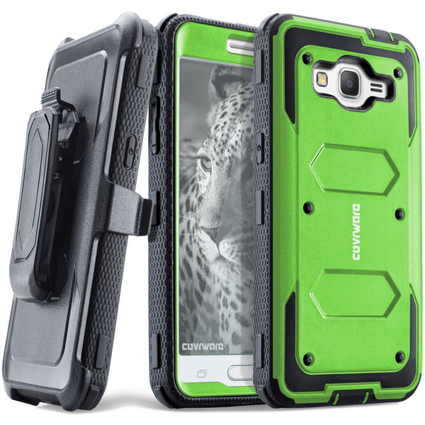 Samsung Galaxy J2 Prime/Grand Prime PLUS/Go Prime/Grand Prime/G532 Case - [Aegis Series] Case [Built-in Screen Protector] Heavy Duty Full-Body Rugged Holster Armor Case [Belt Clip][Kickstand]