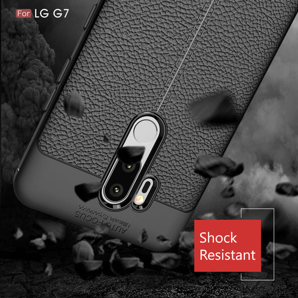 LG G7 / G7 ThinQ Case, COVRWARE [ L Series ] Case with [Full Coverage 3D Tempered Glass Screen Protector] TPU Leather Texture Design [Light Weight] Slim Cover