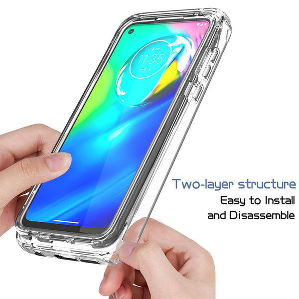 COVRWARE Compatible with Moto G Power Case, Dual Layer Soft TPU Phone Cover with Built-in Screen Protector, Wireless Charging Compatible